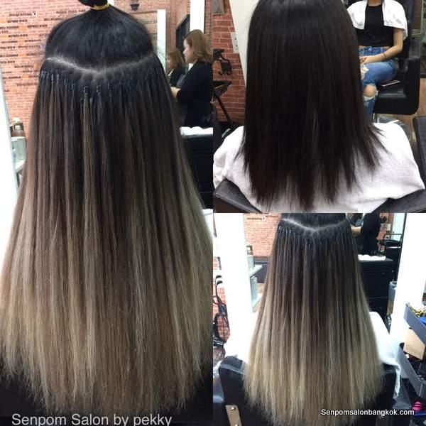 Hair extensions gallery senpom hair salon bangkok hair salon bangkok hair colored extensions senpom salon by pekky pmusecretfo Gallery
