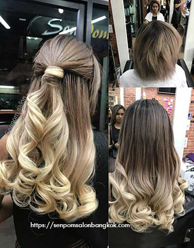 Amazing Bangkok Hair Extensions Lenght at Senpom Hair Salon