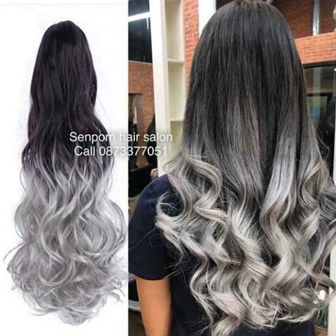 Ombre Color on Hair Extensions at Senpom Hair Salon Bangkok