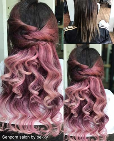 Fashion Color Bangkok Hair Extensions at Senpom Salon
