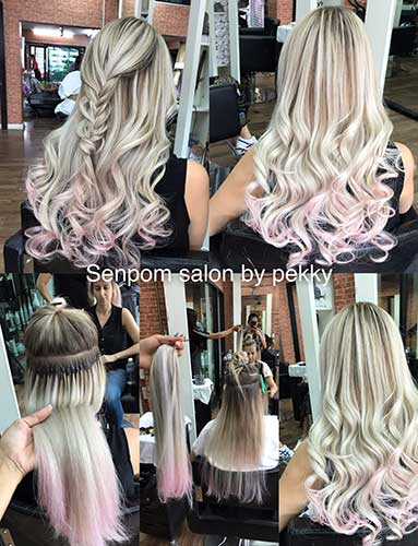 Bangkok Balayage Hair Extensions at Senpom Salon