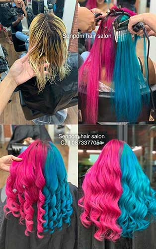Fashion vivid colors on Bangkok Hair Extensions