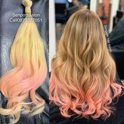 Pink Balayage Premium Hair Extensions - Senpom Hair Salon