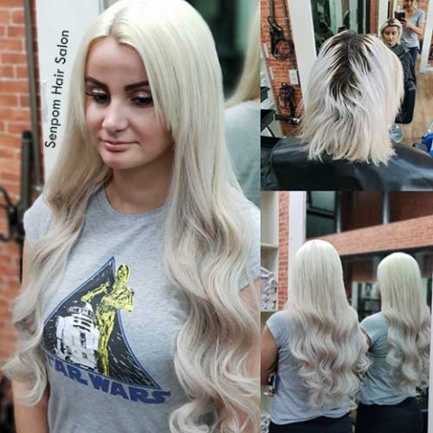 Bangkok Platinum Blond Hair Extensions Senpom Salon