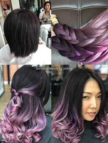 Premium Purple Hair Extensions with Senpom Hair Salon