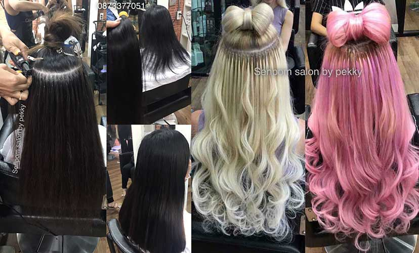 Regular or Fashion Color Bangkok Hair Extensions - Senpom Salon