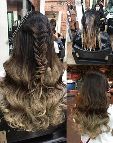Hair Extensions Balayage Bangkok Senpom Hair Salon