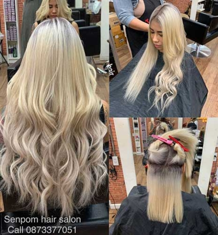 Fashion Hair Extensions in Bangkok at Senpom Hair Salon