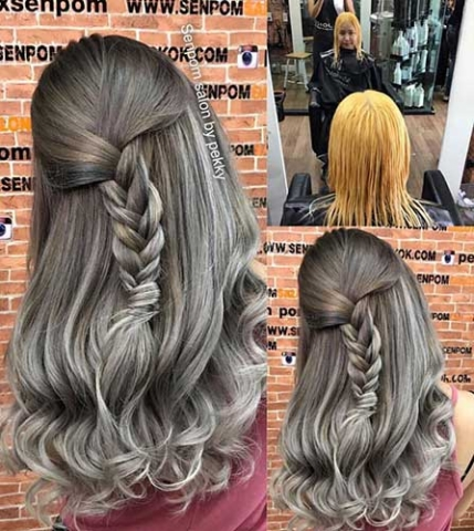 Trendy Color on Bangkok Hair Extensions at Senpom Salon