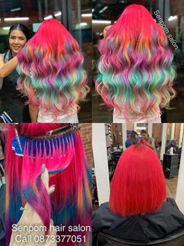 Fashion Color Hair Extensions Specialist in Bangkok