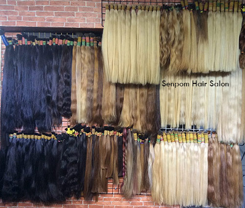 Real Remy Natural Human Hair Extensions in Bangkok - Senpom Hair Salon