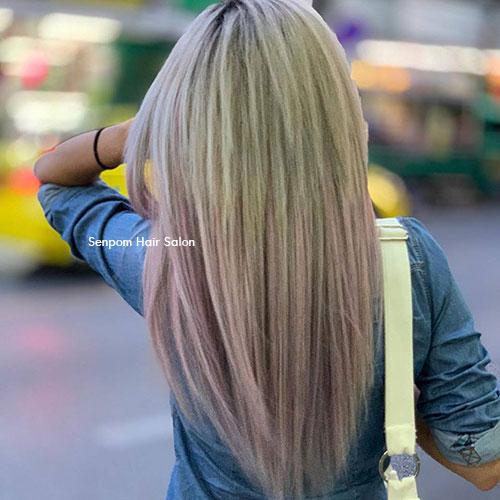 Balayage hair color in Bangkok