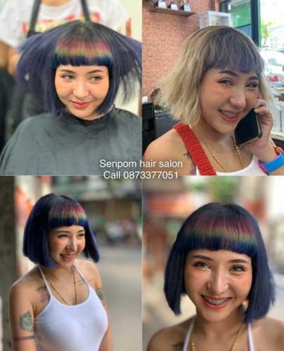 Rainbow Oil Hair Color in Bangkok
